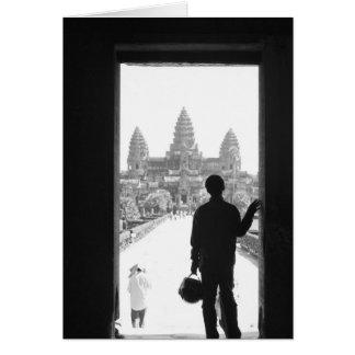 Angkorカンボジア、戸口及び人アンコール・ワット カード
