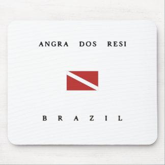 Angra Dos Resiブラジルのスキューバ飛び込みの旗 マウスパッド