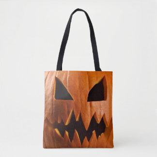 Angry halloween pumpkin トートバッグ