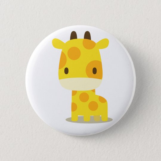 animal giraffe : pins 5.7cm 丸型バッジ