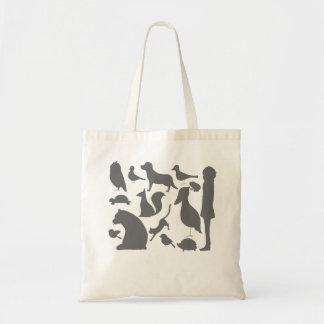 animal silhouettes トートバッグ