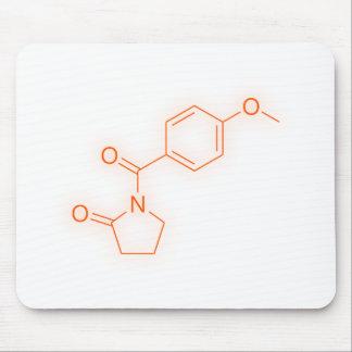 Aniracetamの化学構造 マウスパッド