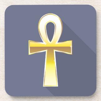 Ankhのエジプトの十字の金 コースター