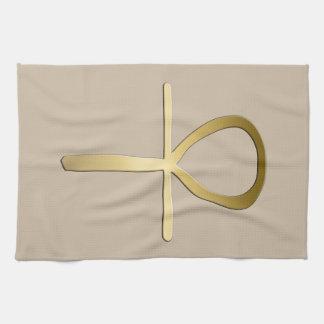 Ankhの十字のエジプトの記号 キッチンタオル