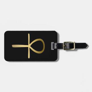 Ankhの十字のエジプトの記号 ラゲッジタグ