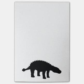 Ankylosaurusのディーノの恐竜のシルエット ポストイット