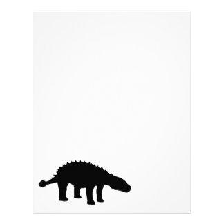 Ankylosaurusのディーノの恐竜のシルエット レターヘッド