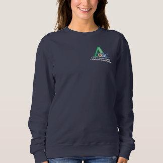ANNの女性のスエットシャツ-海軍 スウェットシャツ