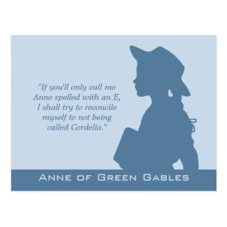 Anne of Green Gables CC0949 Montgomery quotes ポストカード