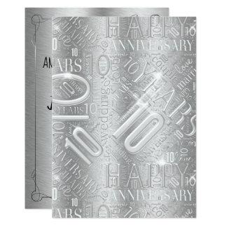 Anniversary 10 Years Word Cloud ID267 カード