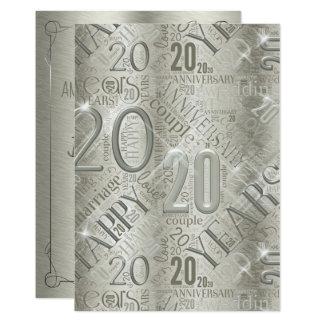 Anniversary 20 Years Word Cloud ID267 カード
