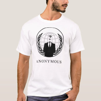 ANONYMOUS? (White) Tシャツ