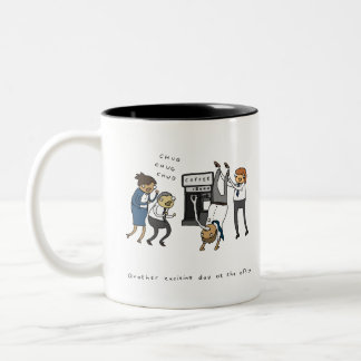 Another Exciting Day at the Office | Funny Mug ツートーンマグカップ