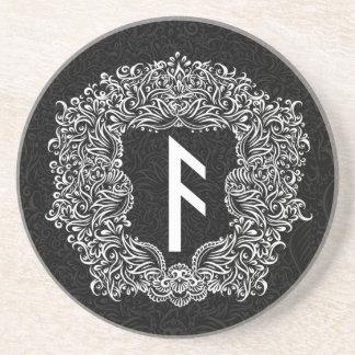 Ansuz rune/繁栄、活力 コースター