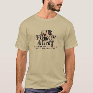 Answering Call空軍叔母さん Tシャツ