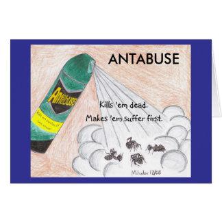 ANTABUSEの挨拶状 カード