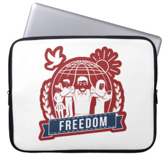 ANTI-GLOBALISM/FREEDOM -イギリス、米国 ラップトップスリーブ