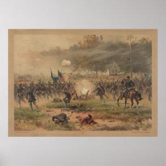 Antietam Sharpsburgのプリントの内戦の戦い ポスター