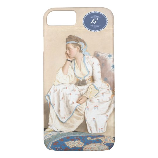 Antique painting. Liotard-(1756)Turkish dress. iPhone 8/7ケース