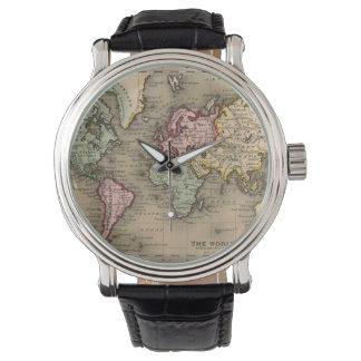 antique world map watch 腕時計