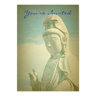 Antiqued仏の彫像 カード