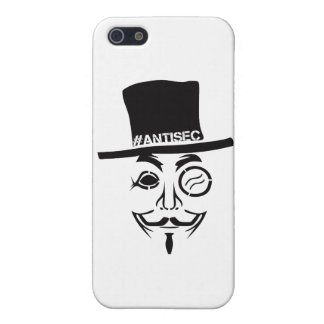 AntiSec AntiSecurityのハッカーのロゴ iPhone 5 Cover