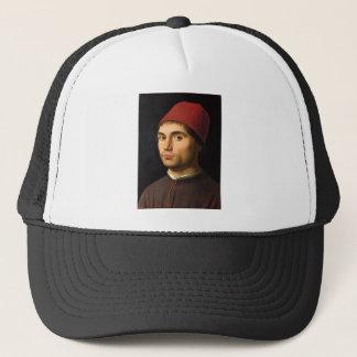 Antonello daメッシーナ-人のポートレート キャップ
