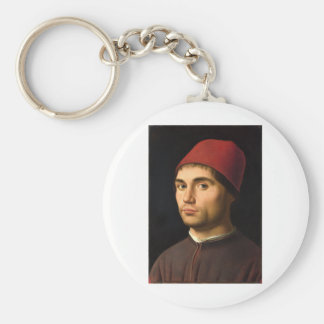 Antonello daメッシーナ-人のポートレート キーホルダー