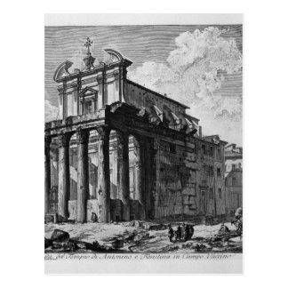 AntoninusおよびFaustinaの寺院の眺め ポストカード