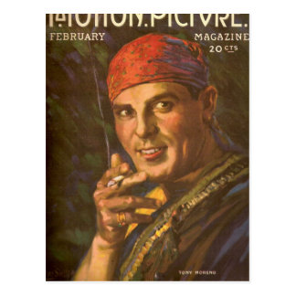 Antonioモレノのヴィンテージの雑誌カバー ポストカード