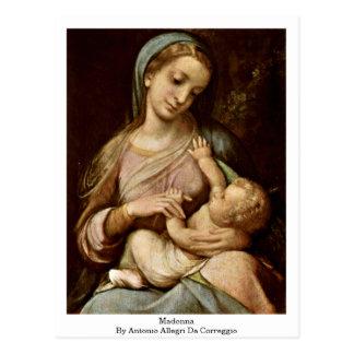 Antonio Allegri Da Correggio著マドンナ ポストカード