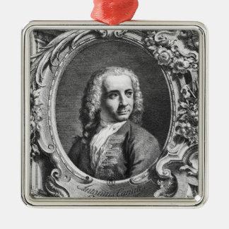 Antonio Canalettoのポートレート メタルオーナメント