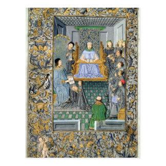 Antonio de Nebrija's 「GramaticaのFrontispiece ポストカード