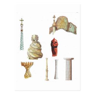 Antonio Gaudi。 バルセロナ。 スペイン。 建築 ポストカード