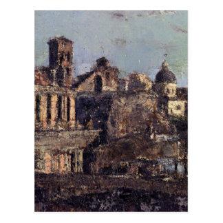 Antonio Mancini著イタリアンな町の眺め ポストカード