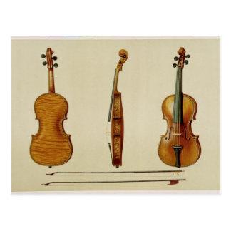 Antonio Stradivarius (cがなすHellierのバイオリン ポストカード