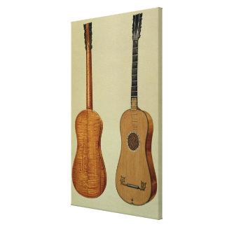 Antonio Stradivarius (c.1644-1737)がなすギター キャンバスプリント