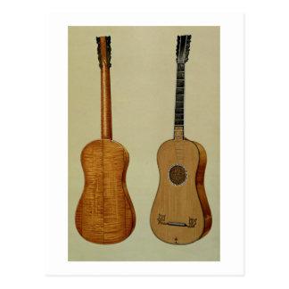 Antonio Stradivarius (c.1644-1737)がなすギター ポストカード