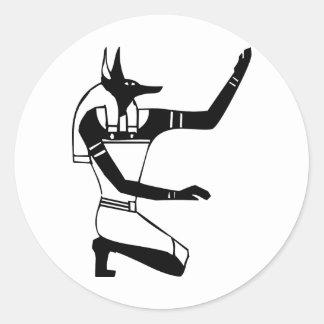 Anubisのエジプトのヒエログリフ ラウンドシール
