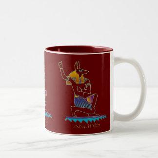 ANUBISのエジプト人の神 ツートーンマグカップ