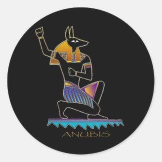 ANUBISのエジプト人の神 ラウンドシール