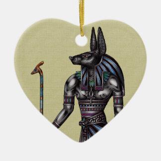 Anubisのオーナメントのハート 陶器製ハート型オーナメント