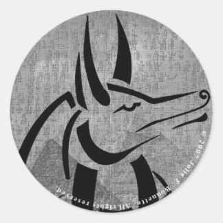 Anubisの円形のステッカー ラウンドシール