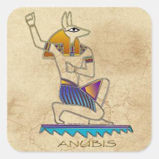 ANUBISの古代エジプトの神の歴史のステッカーセット スクエアシール