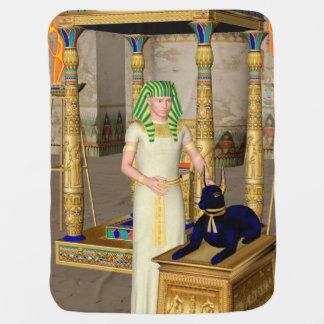 Anubisの古代エジプトの神 ベビー ブランケット