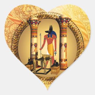 Anubisの死んだ儀式の古代エジプトの神 ハートシール