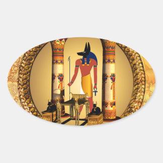 Anubisの死んだ儀式の古代エジプトの神 楕円形シール