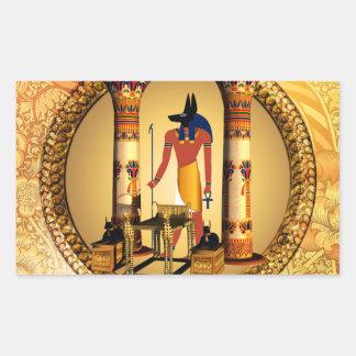 Anubisの死んだ儀式の古代エジプトの神 長方形シール