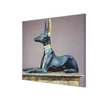 Anubisの箱からの死者のエジプトの神 キャンバスプリント