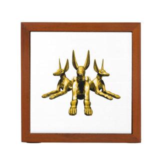 Anubisの金彫像 ペンスタンド